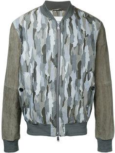 куртка-бомбер  с камуфляжным принтом Cerruti 1881