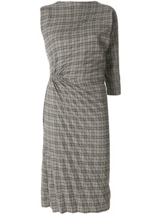 платье в клетку со складками  A.F.Vandevorst