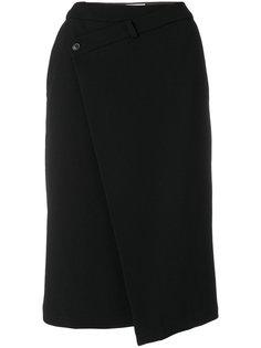 асимметричная юбка на пуговицах  A.F.Vandevorst