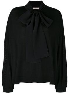 трикотажная блузка с воротником на завязке Dorothee Schumacher