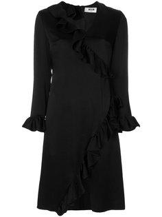 платье с оборками MSGM