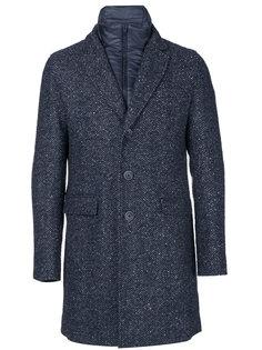 дутое пальто на пуговицах  Herno