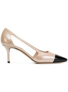 """туфли-лодочки дизайна """"колор-блок"""" Casadei"""