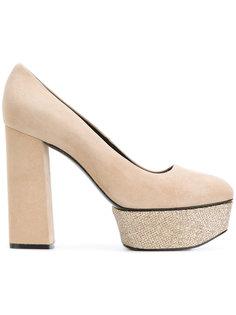 туфли-лодочки на платформе с блесками Casadei