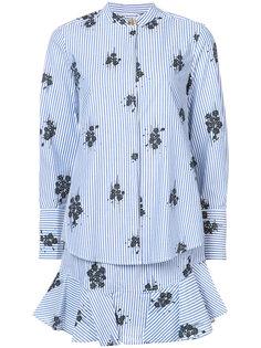 платье-рубашка с длинными рукавами и оборками  Derek Lam 10 Crosby