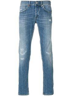 джинсы слим с прорехами  Dondup