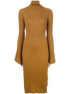 облегающее платье с расклешенными рукавами Dondup