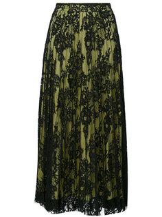 плиссированная кружевная юбка  Ermanno Scervino