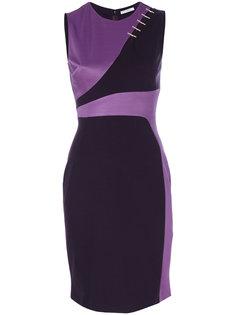 асимметричное платье со вставками  Versace Collection