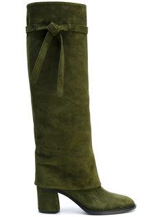 сапоги со шнурками на завязках Casadei