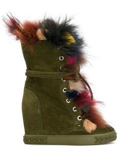 ботинки с разноцветной оторочкой Casadei