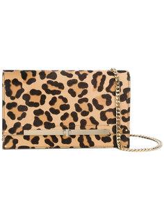 леопардовая сумка через плечо  Casadei
