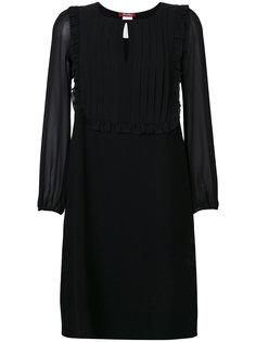 платье с плиссировкой и рюшами Max Mara Studio