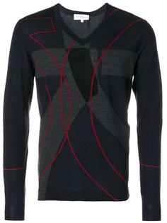 пуловер дизайна колор-блок Salvatore Ferragamo