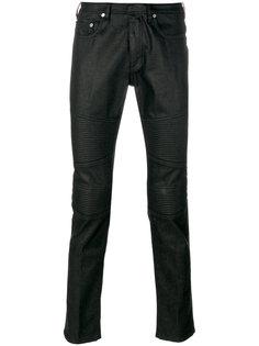джинсы с байкеркими панелями Neil Barrett