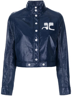 укороченная куртка с высоким воротом  Courrèges