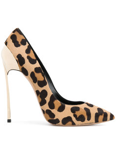 туфли-лодочки с леопардовым принтом Casadei