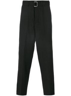 плиссированные брюки с поясом Ami Alexandre Mattiussi