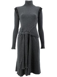 платье с поясом и пуговицами  Paco Rabanne