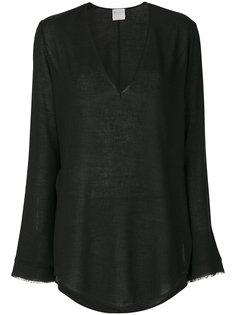 рубашка с драпировкой  Forte Forte