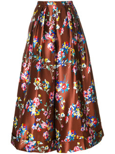 расклешенные брюки с цветочным рисунком Delpozo