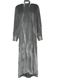 длинное платье с завязками на шее Christopher Esber