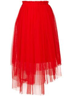 асимметричная юбка из тюля  MSGM