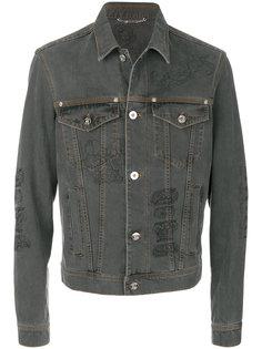 джинсовая куртка с вышивкой Baroque Versace
