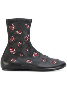 ботинки с вышитыми цветами Kenzo