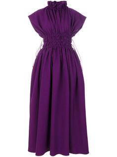 длинное расклешенное платье  Mm6 Maison Margiela