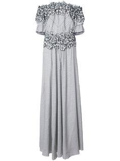 вечернее платье Maia с цветочной вышивкой Zac Zac Posen