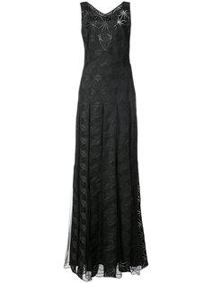 вечернее платье Adel с принтом Zac Zac Posen