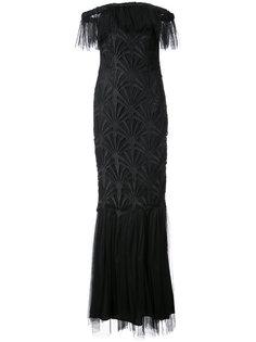 вечернее платье Sibyl с открытыми плечами Zac Zac Posen