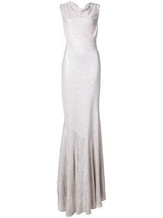 вечернее платье Raphaella с горловиной-хомут Zac Zac Posen