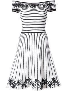 платье Becca в полоску с цветочной вышивкой Zac Zac Posen
