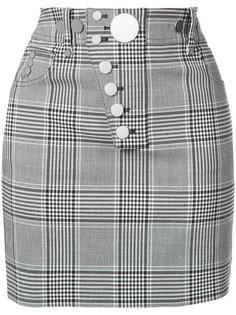 клетчатая юбка с пуговицами Alexander Wang