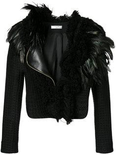 куртка с отделкой перьями Lanvin