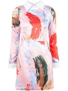 мини-платье с принтом мазков кисти Patbo