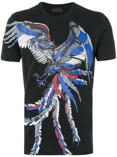 футболка с принтом птицы Diesel Black Gold