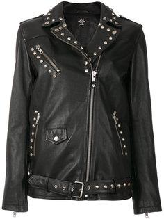 байкерская куртка с заклепками  Htc Hollywood Trading Company