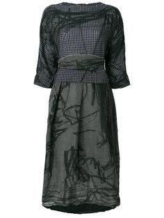 платье с принтом с эффектом потертости  Daniela Gregis