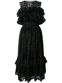 платье с оборками и пайетками Alcoolique