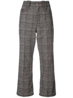 укороченные брюки  в клетку со складками Marc Jacobs