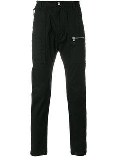 брюки кроя слим с карманами на молнии Helmut Lang