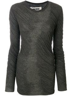 свитер с драпировкой Uma Wang