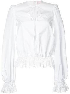 блузка с кружевом Giamba