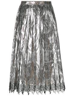 плиссированная кружевная юбка миди Marco De Vincenzo
