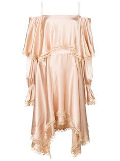 драпированное платье с кружевной отделкой Jonathan Simkhai
