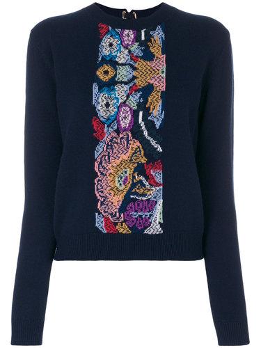 свитер с вышивкой  Barrie