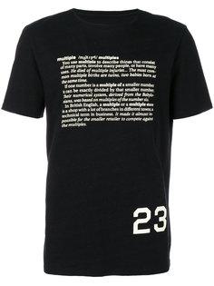 футболка с принтом текста Cy Choi